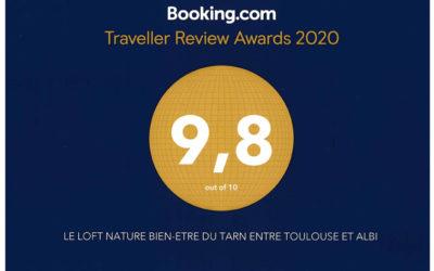 Traveller Review Awards 2020 Loft nature bien-être du Tarn