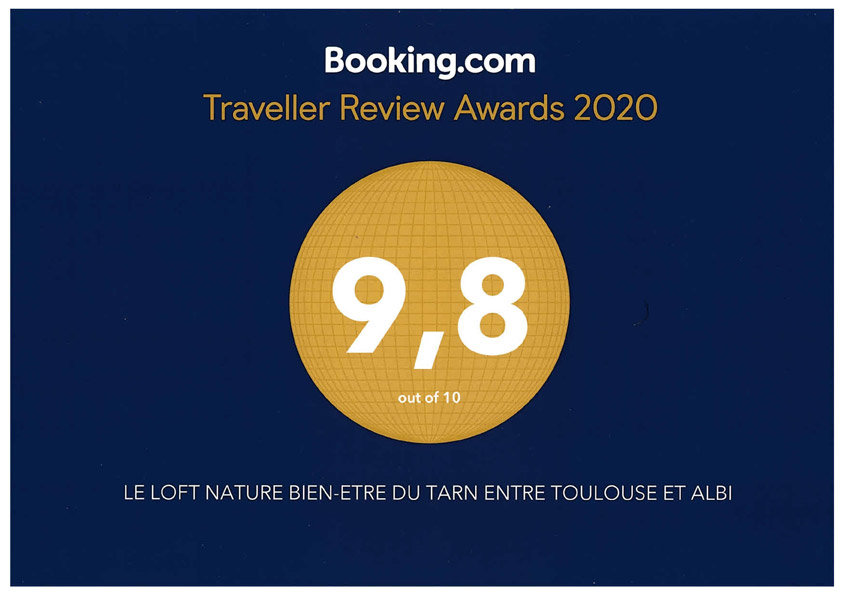 Traveller Review Awards 2020 Loft nature bien-être du Tarn